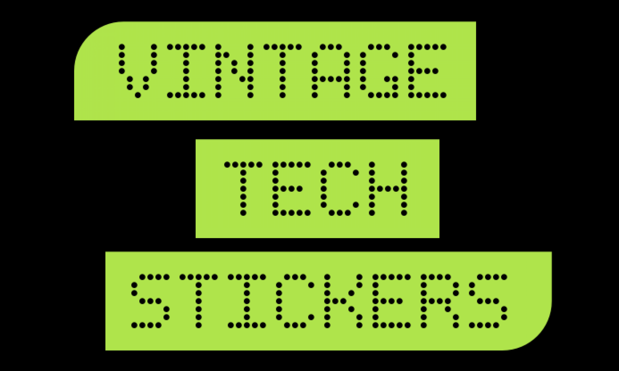 Vintage Tech Stickers